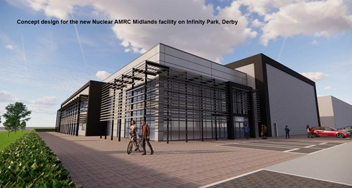 Concept design for the new Nuclear AMRC Midlands facility on Infinity Park, Derby